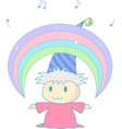 magical rainbow vector image