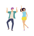 male and female dancing together dancer vector image vector image