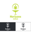 medical marijuana logo vector image vector image