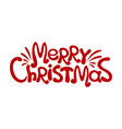 merry christmas red inscription vector image vector image