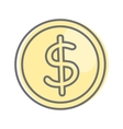 Money Sign Isolated Dollar Coin Video Marketing vector image