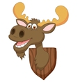 Moose head cartoon vector image vector image
