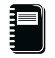 notebook icon simple black style vector image vector image