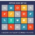 Office 2 icon set Multicolored square flat vector image