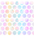 pastel color circle seamless pattern vector image vector image