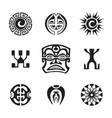 polynesian tattoo indigenous primitive art vector image vector image