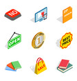 pricing icons set isometric style vector image vector image