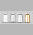 realistic transparent medical orange pills bottle vector image