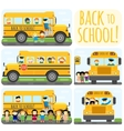 School bus set vector image vector image