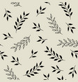 seamless pattern with leaves fabric print vector image vector image