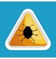 security data alert virus icon design vector image vector image