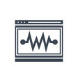 seo performance glyph icon vector image vector image