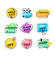 set colorful labels or icons with abstract vector image vector image