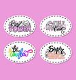 set of graffiti fonts slogans vector image vector image