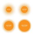 Set of Sun Circle Halftone Logo Elements vector image vector image