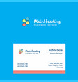 shells logo design with business card template vector image vector image
