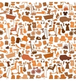 Shopping icons pattern with theme for sale vector image