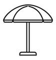 sun beach umbrella icon outline style vector image vector image