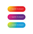 swipe to right web button vector image vector image
