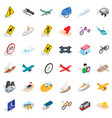 transport on road icons set isometric style vector image vector image