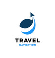 travel navigation logo design inspiration vector image