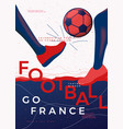 typographic france football poster template vector image vector image