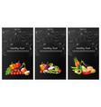 vegetables brochure realistic eggplant tomatoes