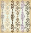 vintage border pattern vector image vector image