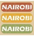 Vintage Nairobi stamp set vector image vector image