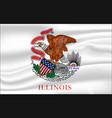 waving flag illinois 10 eps vector image vector image