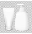 white bottle and tube templates vector image vector image