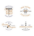 wine shop badges templates in typography style vector image vector image