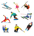 winter sports cliparts icons vector image