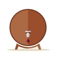 Wooden Barrel with Steel Tap vector image