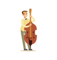 young cellist playing cello vector image vector image