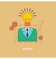 Idea as the Beginning of Startup Eureka vector image