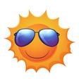 A smiling sun vector image vector image