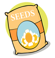 Bag of seeds cartoon vector image vector image