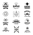 Bakery badges and logo icons thin modern style vector image vector image