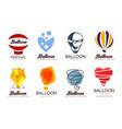 balloon original design set creative logo for vector image