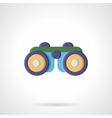 Binoculars flat color style icon vector image