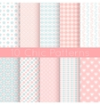 chic different seamless patterns pink white vector image vector image