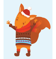 Christmas squirrel vector image vector image