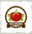 colorful logo of organic food with tomato vector image vector image