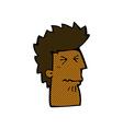 comic cartoon unhappy man vector image vector image