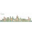 como italy city skyline with color buildings vector image vector image