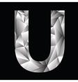 crystal letter U vector image