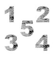 decorative numbers 1 2 3 4 5 vector image