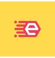 E letter icon vector image vector image