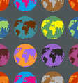 Earth coloured crazy pattern Multi-Colored vector image